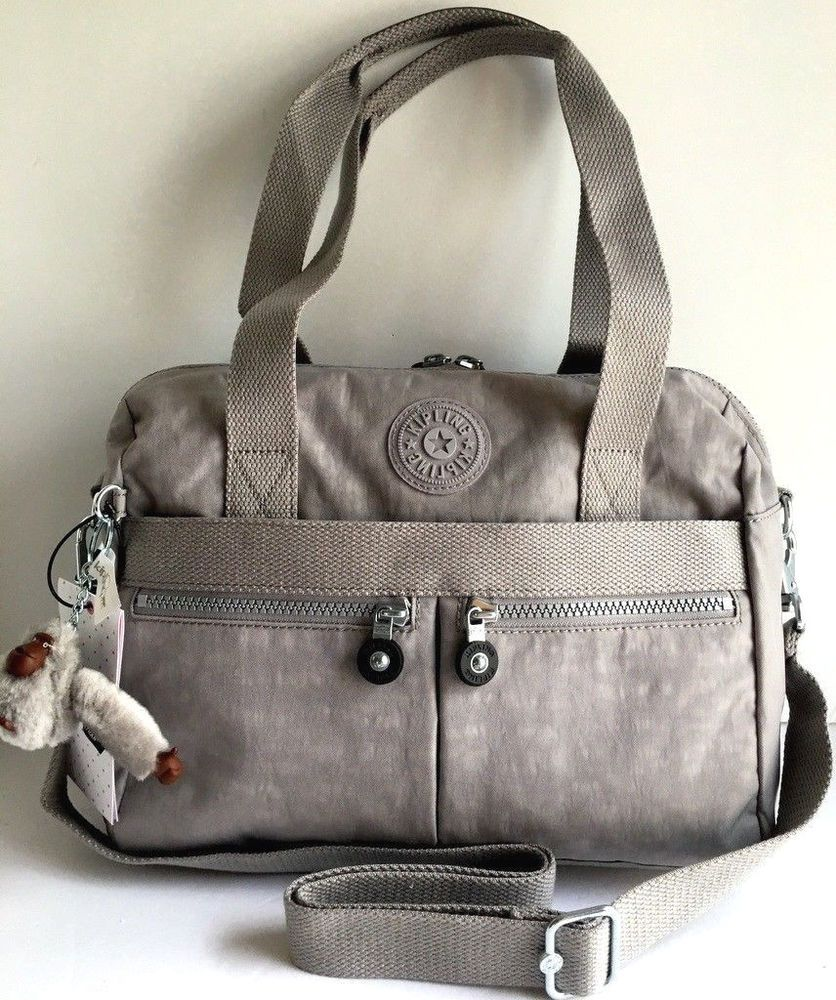 56bf5a4afe0 NEW KIPLING Klara Satchel Crossbody Shoulder Travel Bag Slate Gray Nylon  HB7240 #Kipling #Crossbody