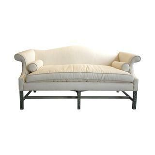 Charmant Hard To Find Vintage White Kittinger Chippendale Sofa With Elegant  Blue/green Finished Fretwork Legs! Features Newly Upholstered Ivory Linen  With ...