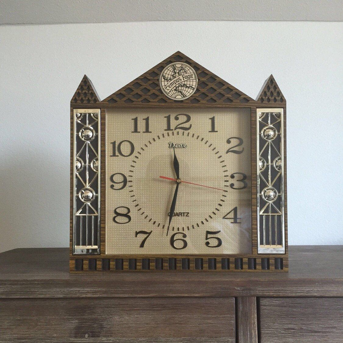 Vintage tempus fugit wallmantle clock steeple clock mantle vintage tempus fugit wallmantle clock steeple clock mantle clock quartz wall clock tempus fugit clock vintage clock working clock amipublicfo Image collections