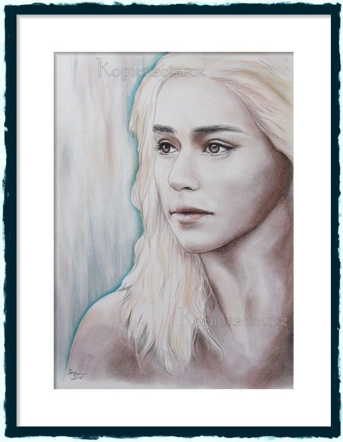 Daenerys Targaryen - Game of Thrones,Drawing,Original Zeichnung,Porträt