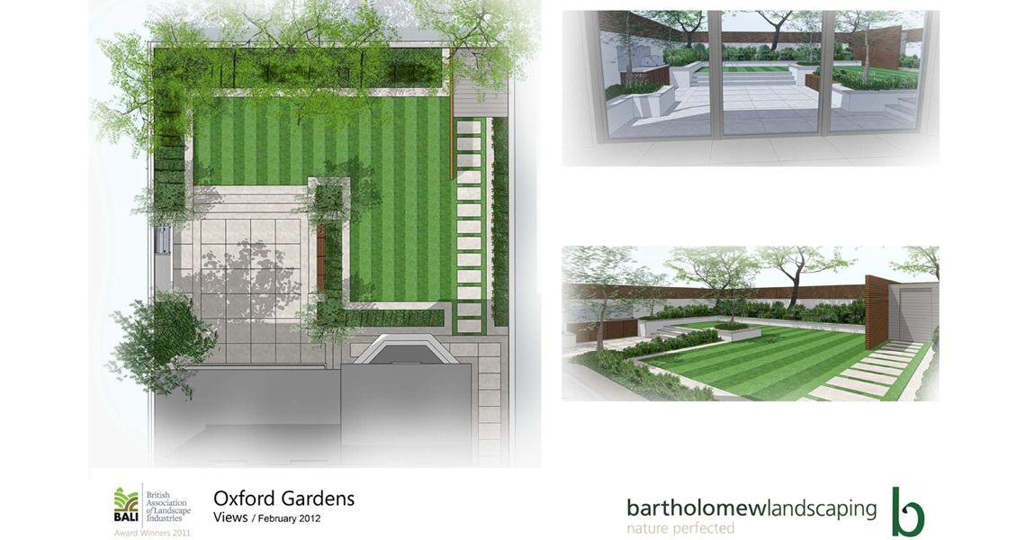 Garden designs for this large contemporary garden 平面规划