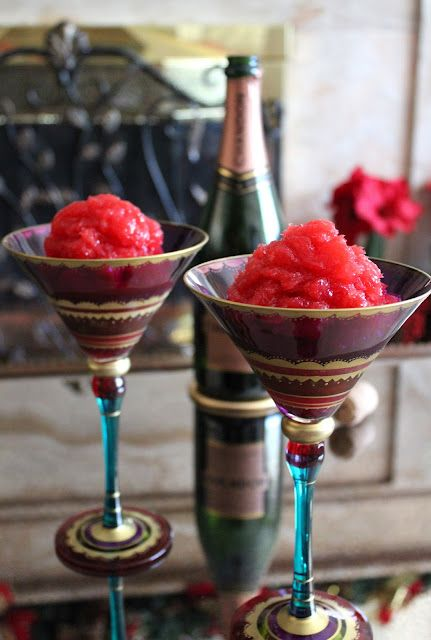 persimmon champagne granita the recipte itself sounds amazing but