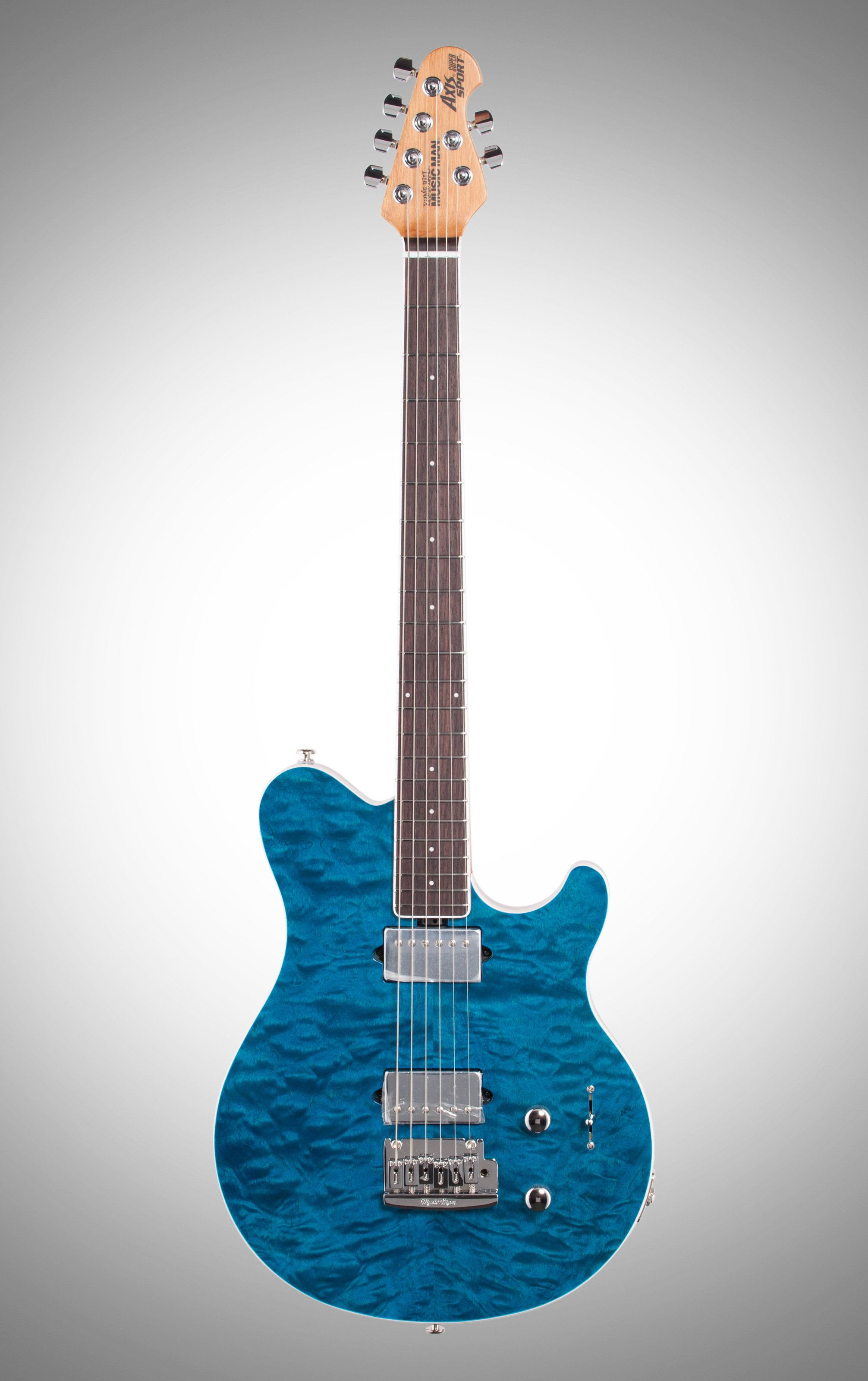 ernie ball music man bfr axis super sport electric guitar trans blue finish guitars in 2019. Black Bedroom Furniture Sets. Home Design Ideas