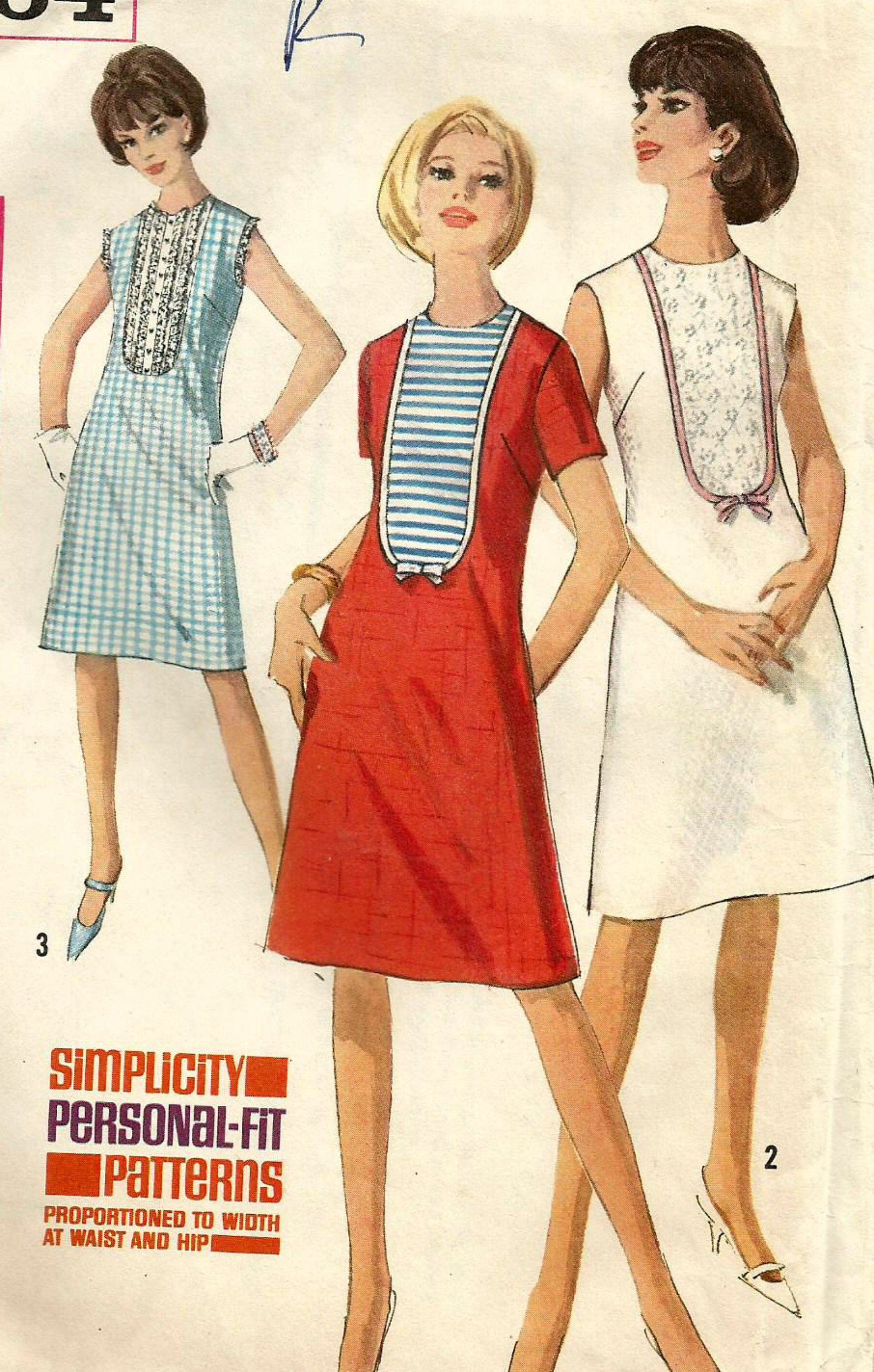 Vintage 60s Simplicity 5964 Misses Shift Dress With Deep Etsy Sewing Pattern Sizes Shift Dress Womens Sewing Patterns [ 3000 x 1910 Pixel ]