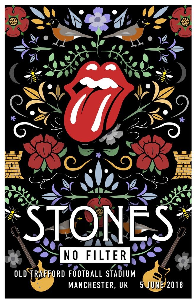 rolling stones unofficial poster manchester uk concept
