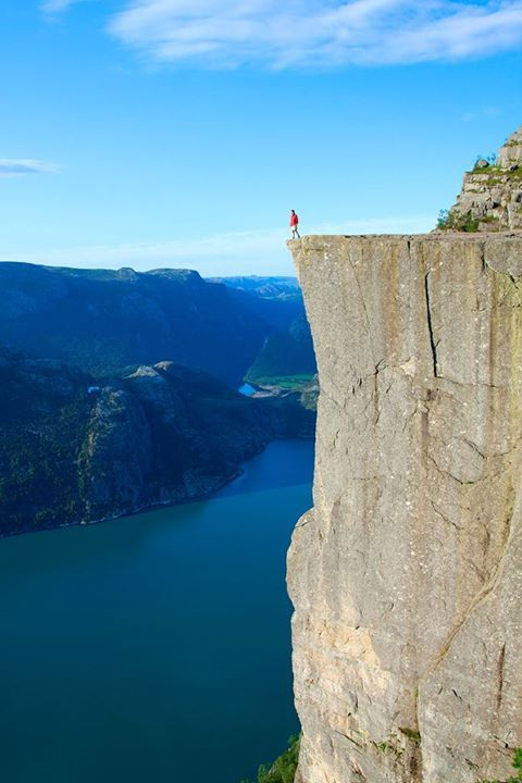 Also known as Pulpit Rock, Preikestolen is a one of the most famous tourist attractions in Norway.