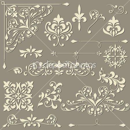 Vector Vintage floral-Design-Elemente — Stockilllustration #23783705