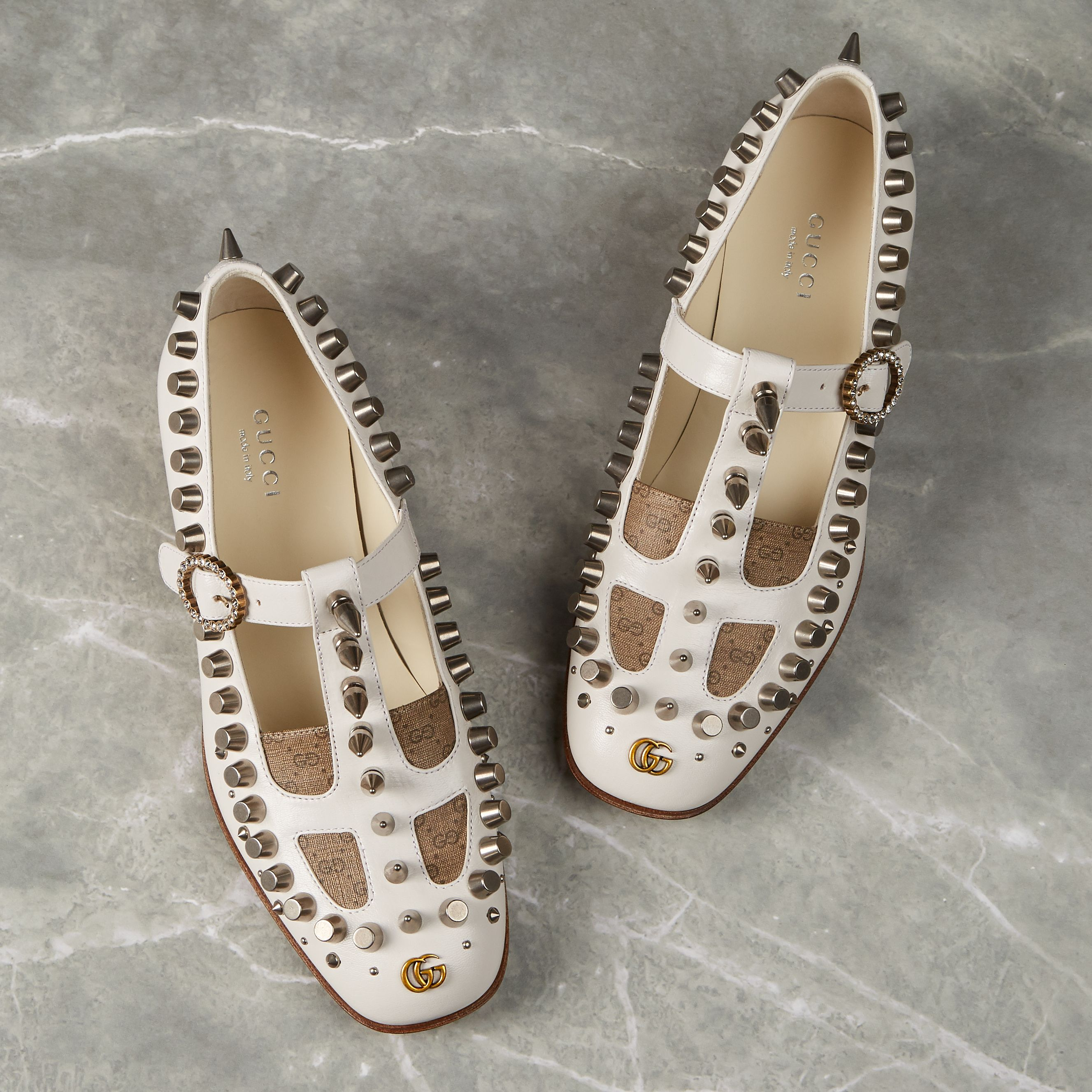 Leather loafers, Studded leather