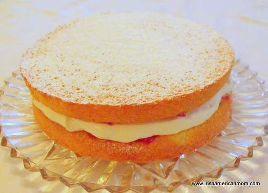 Irish Sponge cake - no butter recipe