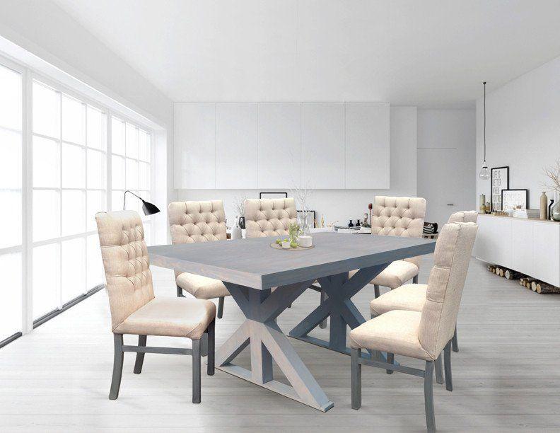 COMEDOR RONALD GRIS VINTAGE (6 y 4 sillas) Interiores Pinterest