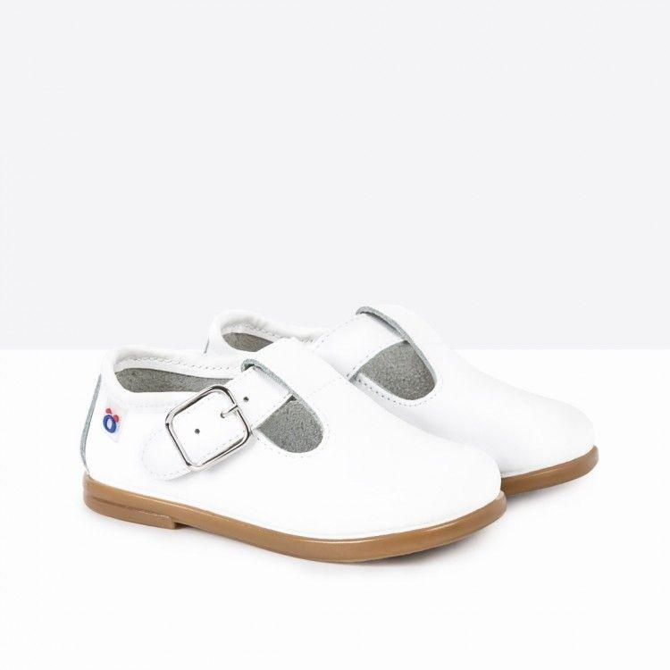 Conguitos Zapatos Para Niño En Piel De Color Blanca, De Osito by Blanco, 24