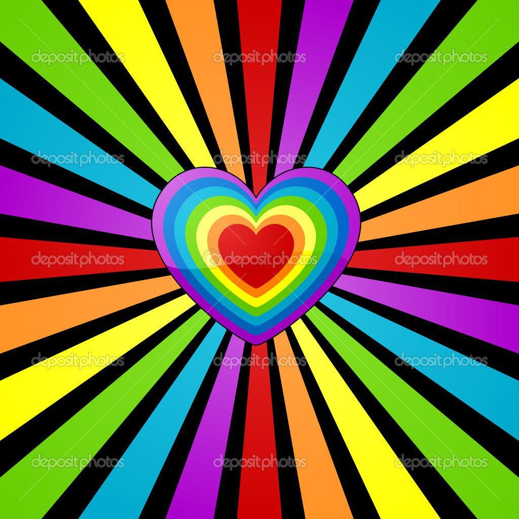 rainbow love hearts backgrounds wwwpixsharkcom
