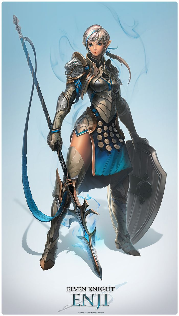 Pin by questing gm on fighter in 2019 fantasy character - Anime female warrior ...
