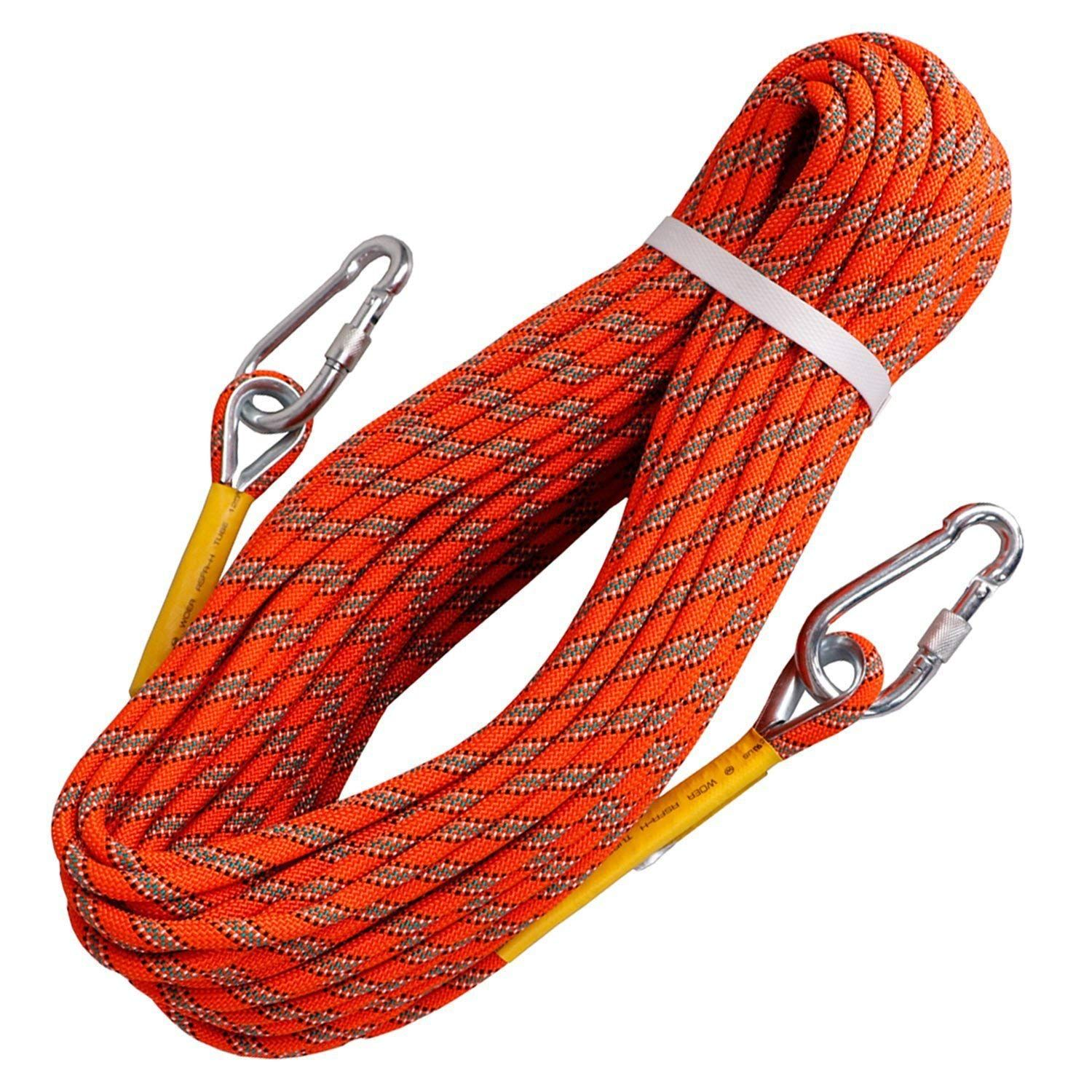 Tresbro Outdoor Rock Climbing Rope Stacic Fire Rope Escape Safety Survival Rope 10m 32ft 20m 64ft 30m 96ft 5 Rock Climbing Rope Climbing Rope Rock Climbing