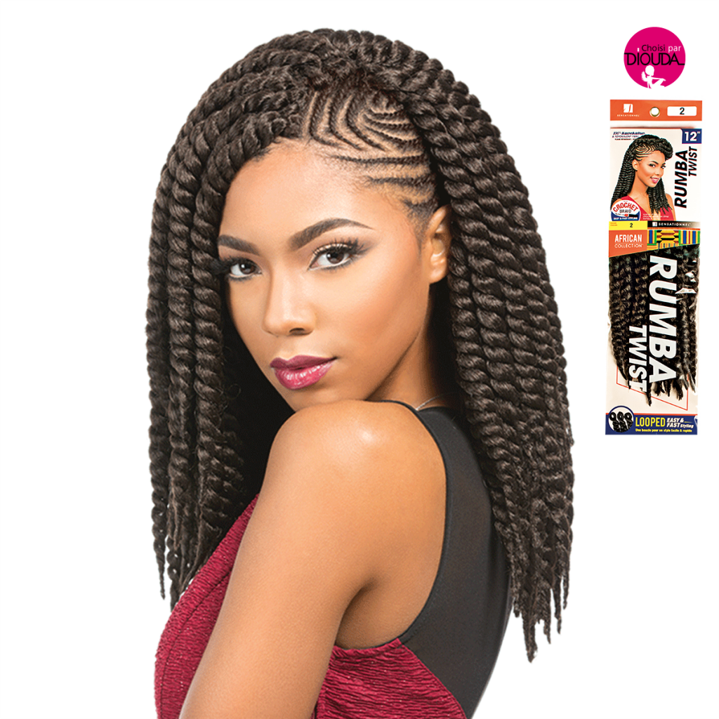Meches à tresser rumba twist african collection sensationnel en