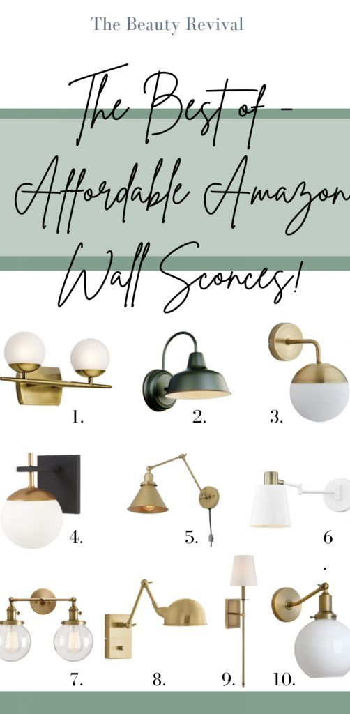 The best of Amazon wall sconces. These wall sconces are not only beautiful, they are affordable too! Perfect for boho, modern, and traditional decor styles. #amazonfinds #amazondecor #lighting #wallsconce #amazondeals #homedecor #sconce