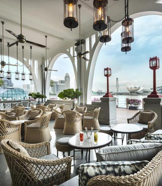 Fullerton Hotel High Tea: Alfresco Lounge For Afternoon Tea