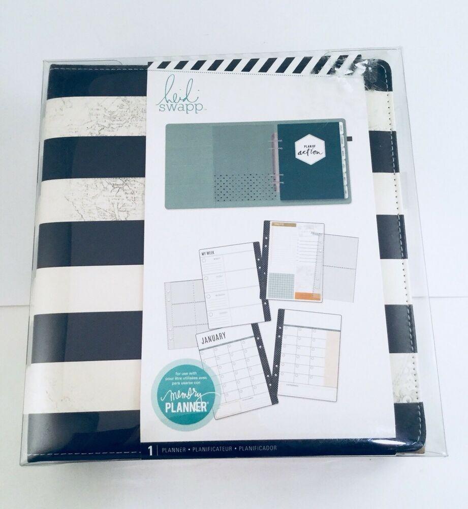 Heidi Swapp Memory Planner Kit Large Stripes Monthly