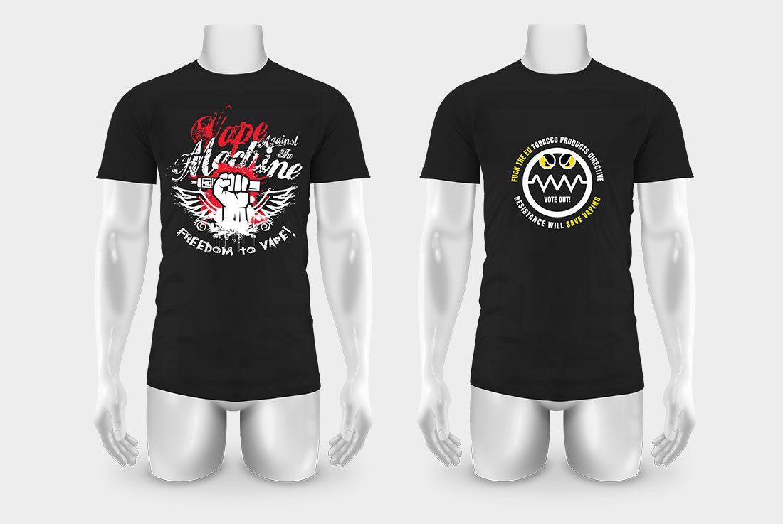 Ohm Made T-Shirts Cry Freedom to Vape!