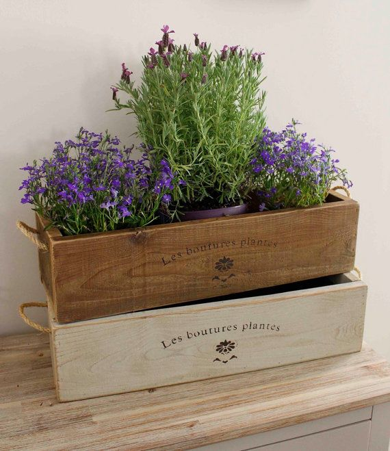 Vintage Style Trough Planter, Window Box Planter, Trough, Window Box,  Wooden Planter