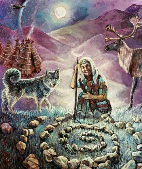 Grandmother Moon and her children...healing Gaia with the Ancients