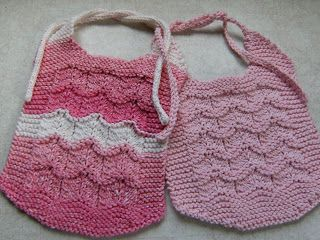 Baby Ripples free knitting pattern for lace baby bib and ...