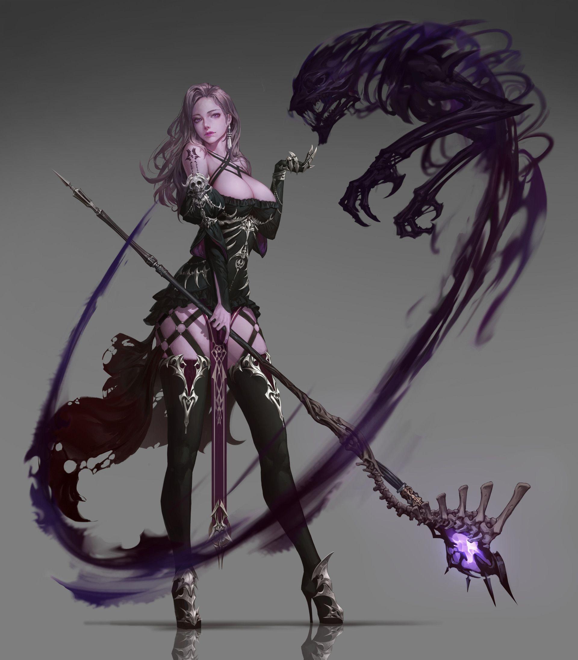 Artstation Undead Mage Jeongseok Lee Dark Fantasy Art