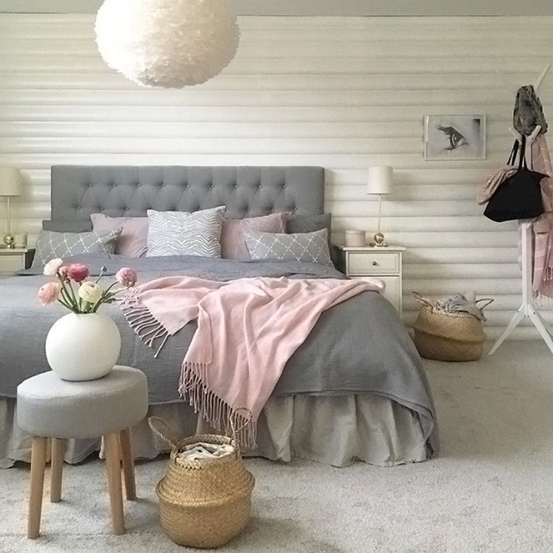 Best 99 White And Grey Master Bedroom Interior Design Pink 400 x 300