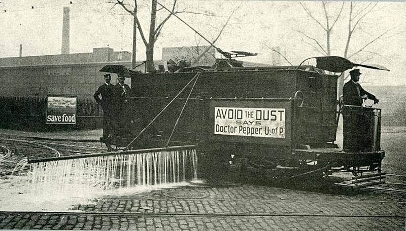 Philadelphia Rapid Transit sprinkler car, 1918 This