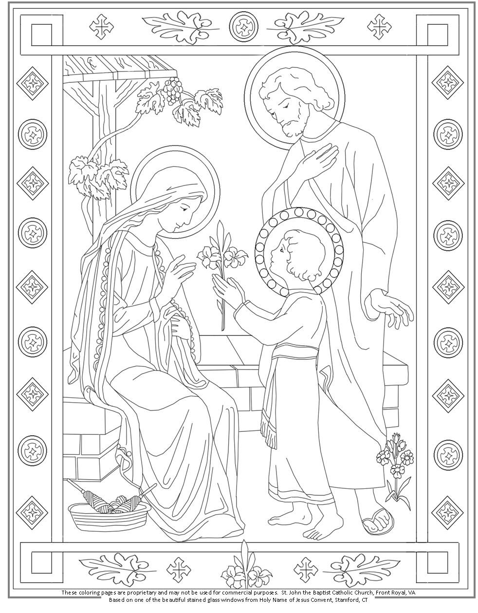 the holy family coloring page catholic coloring pages on sjtb