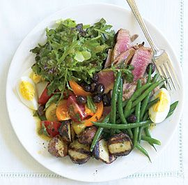 Niçoise Salad with Grilled Tuna & Potatoes #finecooking