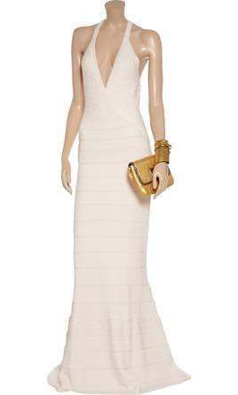 New With Tags Herve Leger Wedding Dress Hervé Léger Size 4 Get A Designer