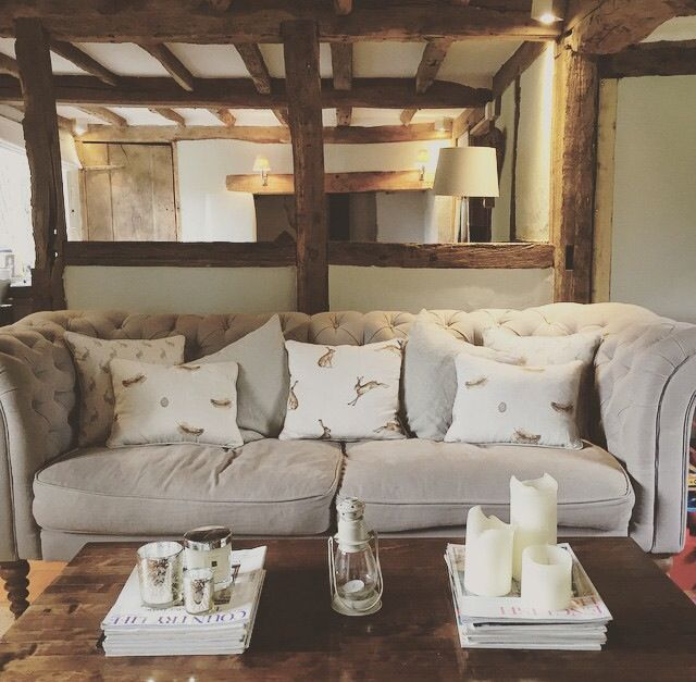 French Country Cottage Living Room: Pin By Fiona Faulkner On Design & Home