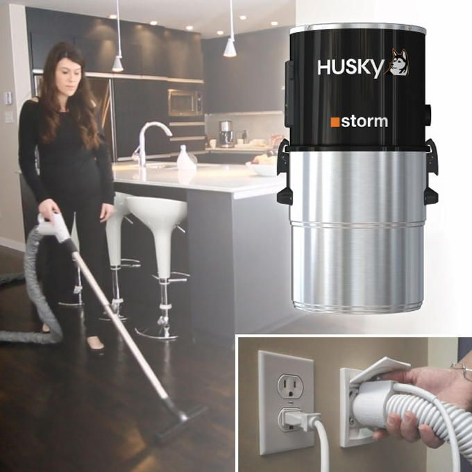 Husky Storm Central Vacuum System With Electric Power Head Kit Central Vacuum Cleaner Vacuum Repair Electric Power