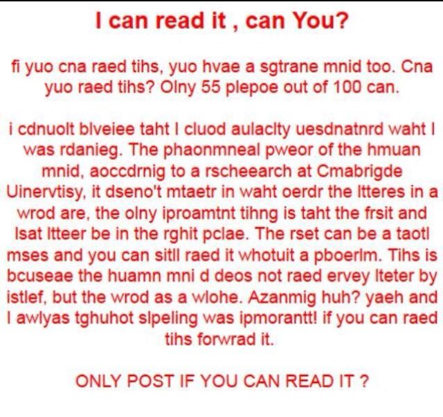 mixed up letters i can read it thats awesome