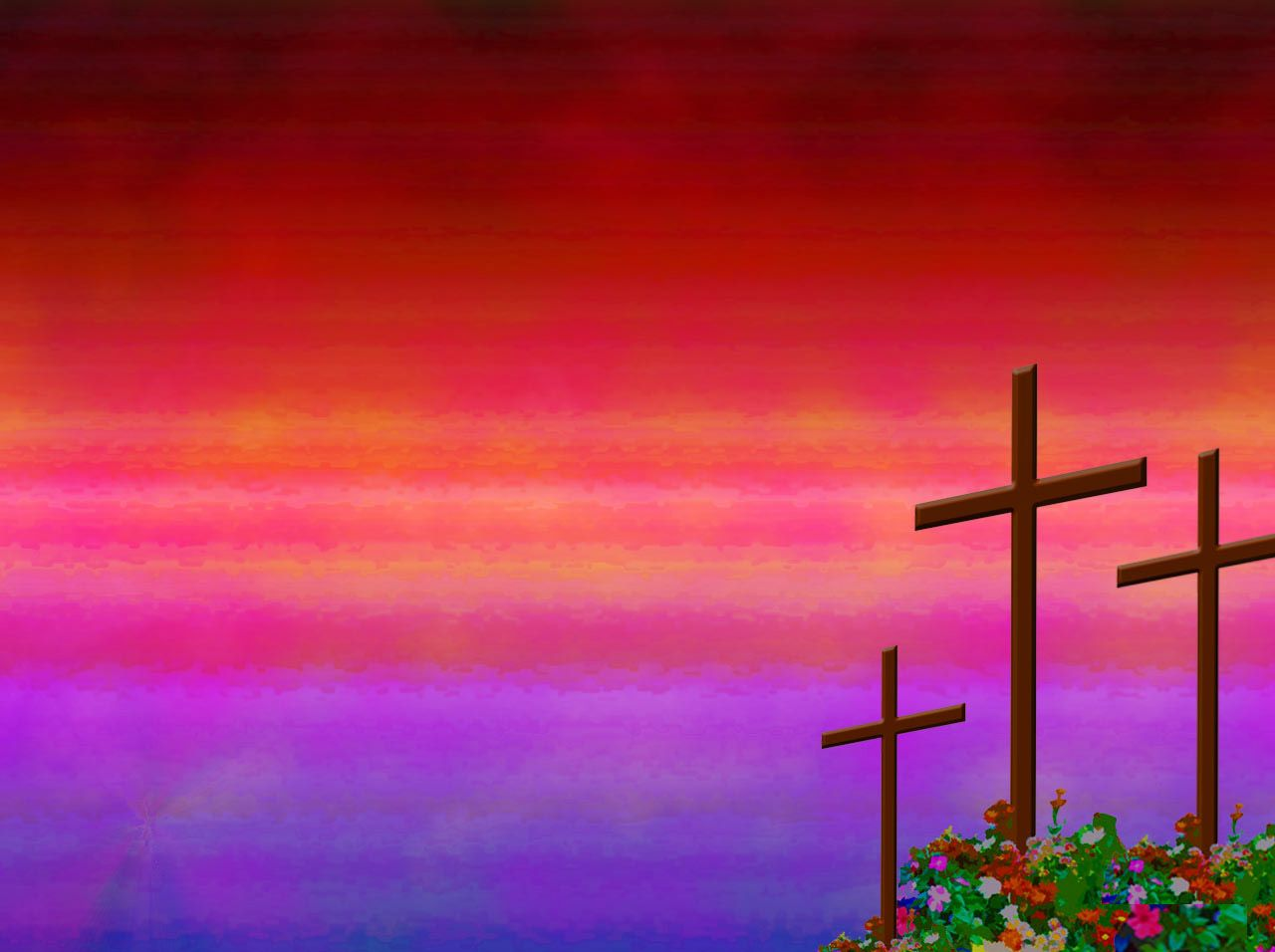 Christian Rose Garden Powerpoint Background. In