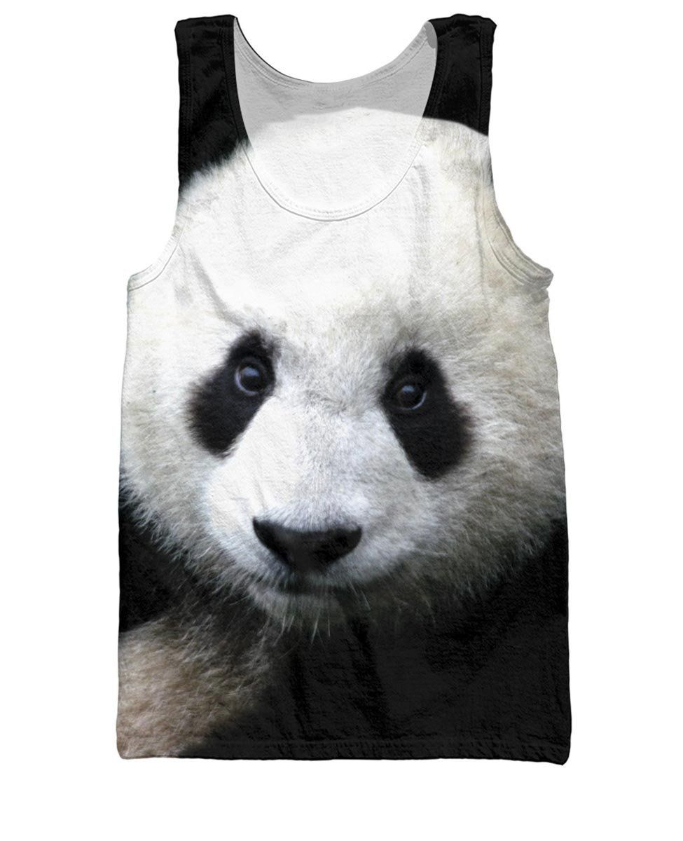 16b426890a21f Panda Giant Face Tank Top