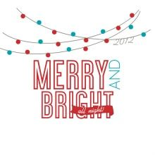 Merry and Bright Lights Holiday Party Invite