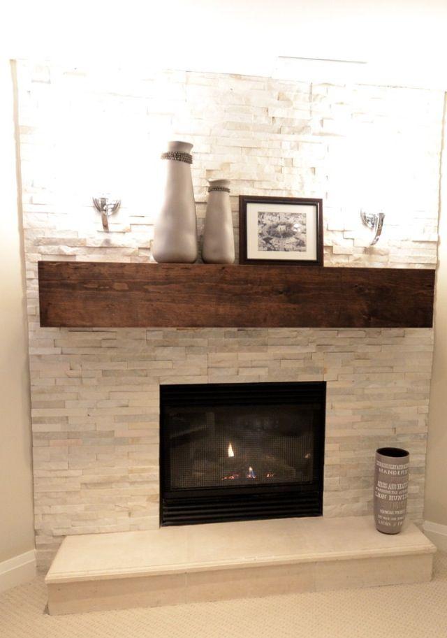 Finished Basement fireplace mantel