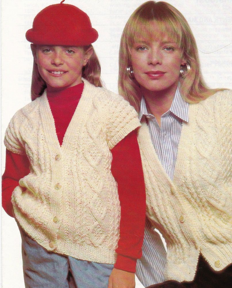 Details about vintage knitting pattern instructions for a childs details about vintage knitting pattern instructions for a childsladies aran waistcoat 5 sizes bankloansurffo Gallery