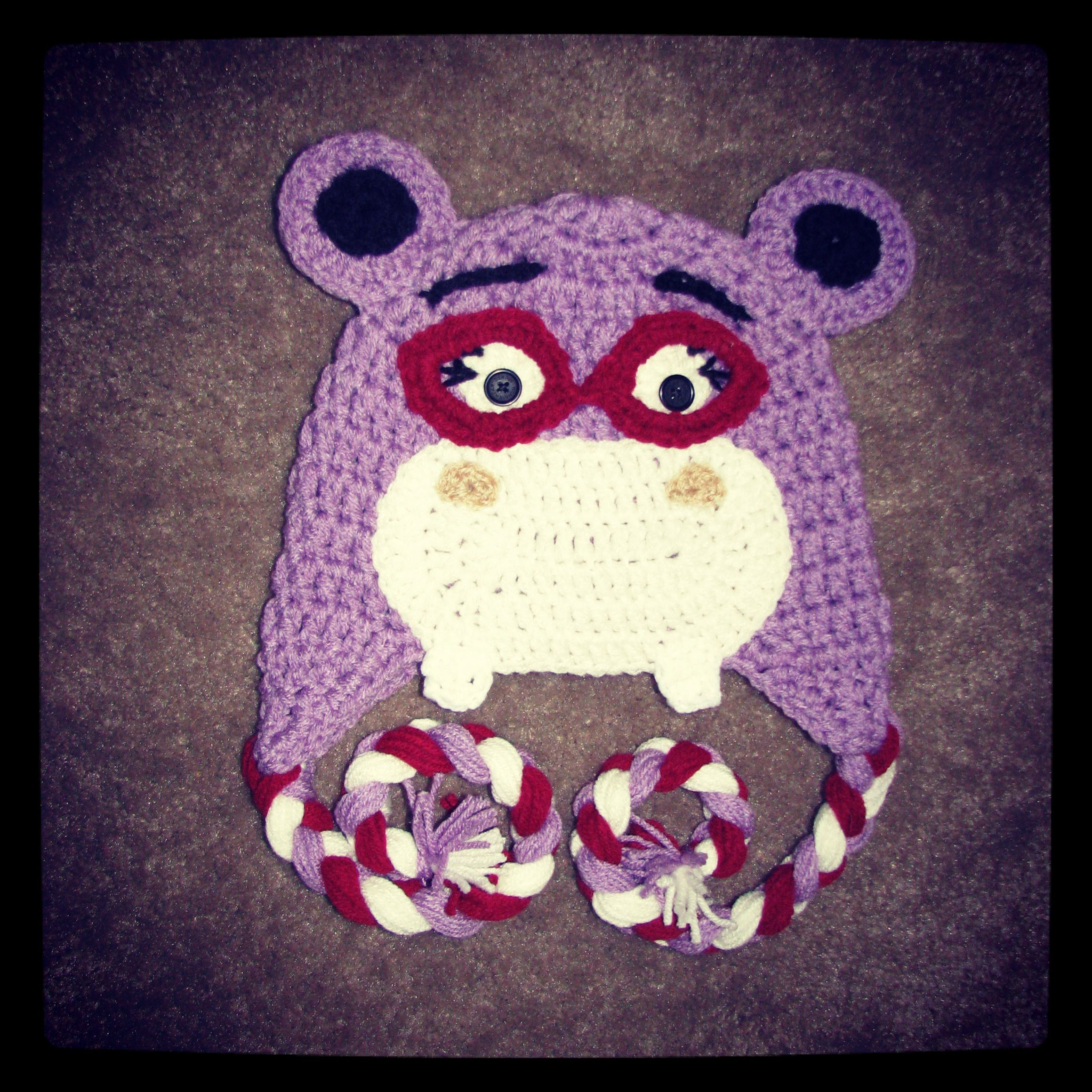 Crochet halli the hippo from Doc Mcstuffins | Halli prn | Pinterest ...