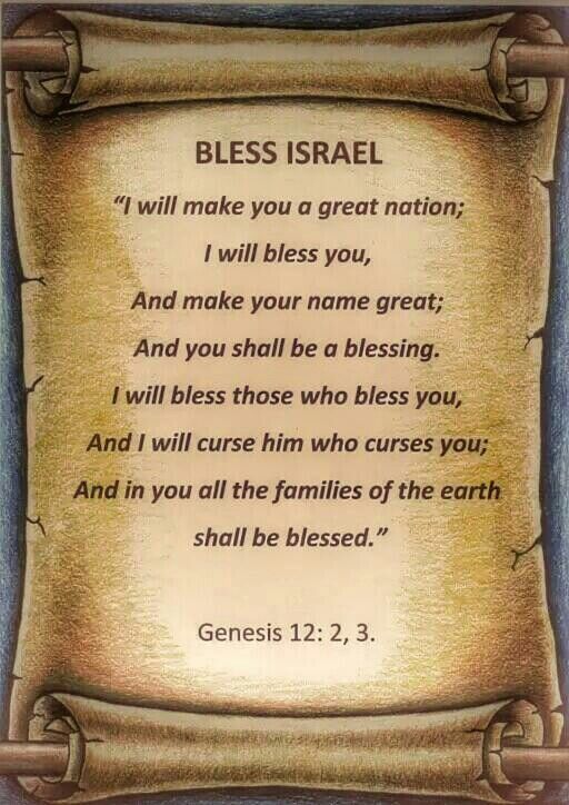 Genesis 12:2-3 I pray today for Israel and for peace in Jerusalem ...