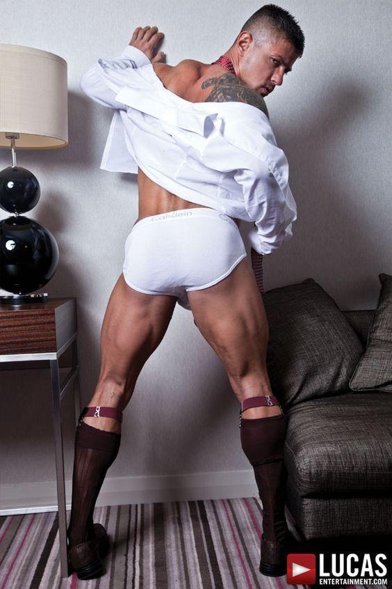 Office gay hot male underwear photo