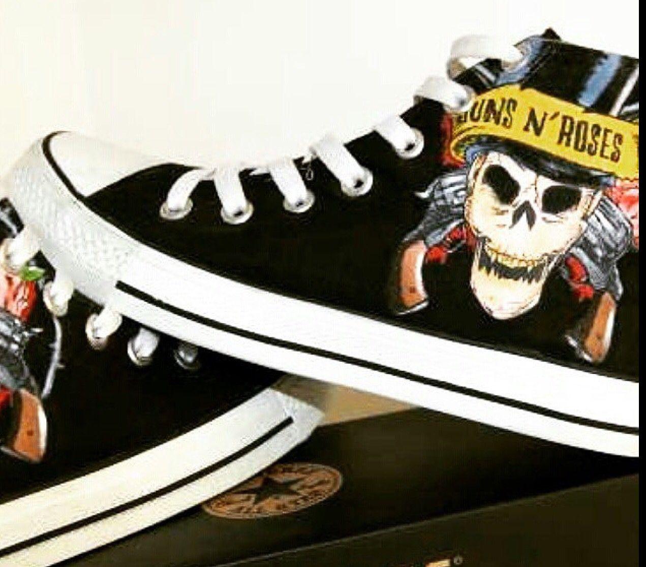 Guns n Roses Custom Converse en 2019   Zapatos converse