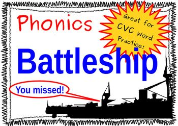 Battleship Short Vowel Phonics Game Making Cvc Words  Phonics