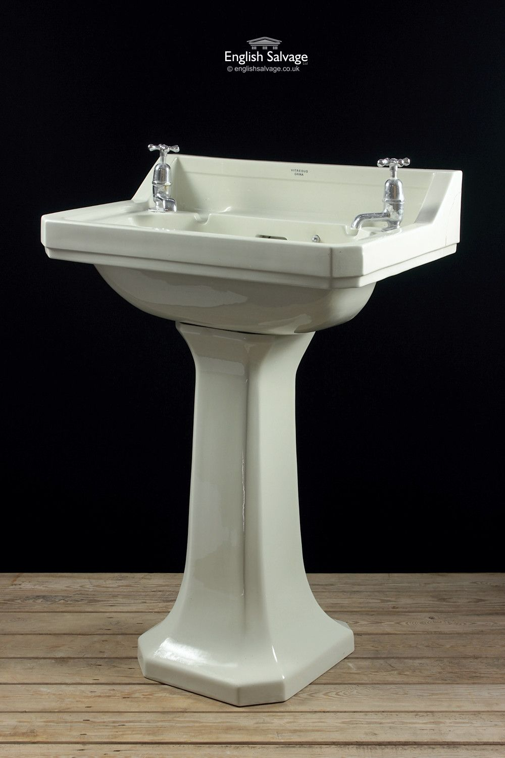 Royal Doulton Corner Cut Pedestal Hand Basin | Bathrooms - Salvaged ...