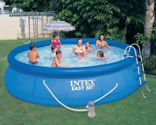 Intex Easy Set Pool Set 15 Ft By 42 Inch Above Ground Swimming Pool Filter Pump Easy Set Pools Swimming Pool Kits Inflatable Swimming Pool