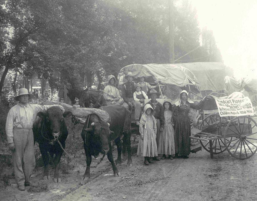 Schooner float, shown here at Liberty Park with Handcart Pioneers ...