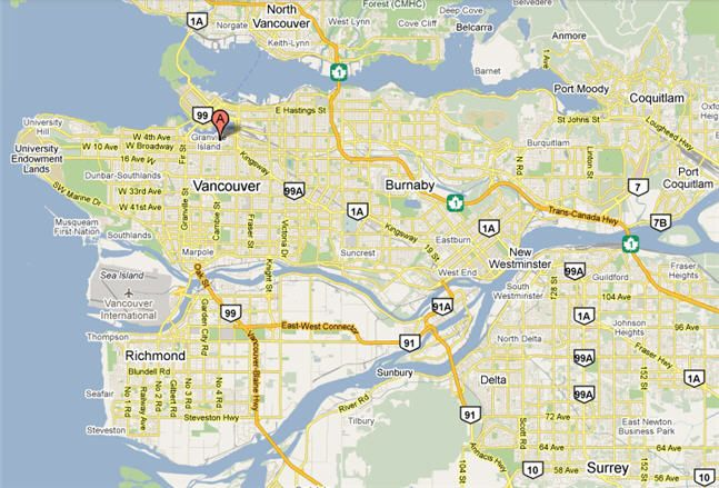 awesome Vancouver Map Tourist Attractions Travelquaz Pinterest