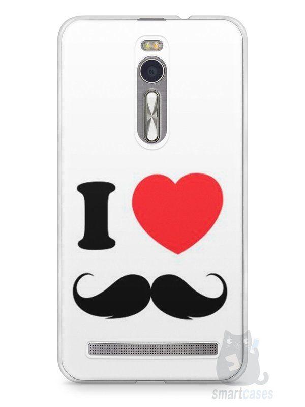Capa Zenfone 2 I Love Bigode #1 - SmartCases - Acessórios para celulares e tablets :)